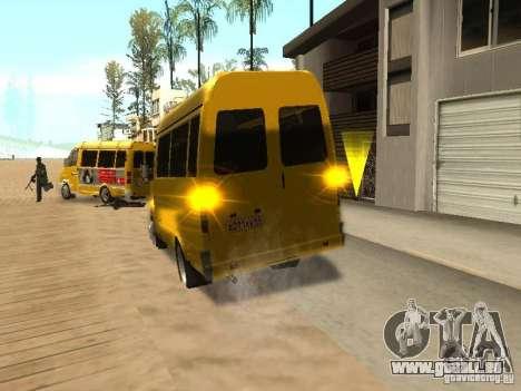 Taxi de Gazelle 2705 pour GTA San Andreas sur la vue arrière gauche