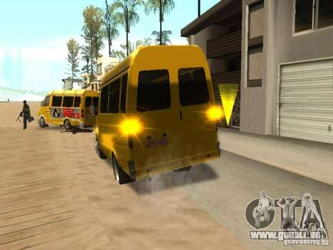 Gazelle 2705-taxi für GTA San Andreas zurück linke Ansicht