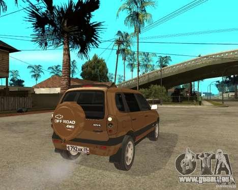 CHEVROLET NIVA Version 2.0 für GTA San Andreas zurück linke Ansicht