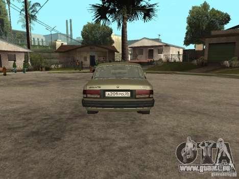 GAZ 3110 v 1 pour GTA San Andreas sur la vue arrière gauche