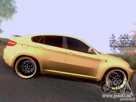BMW X6M Hamann für GTA San Andreas Rückansicht