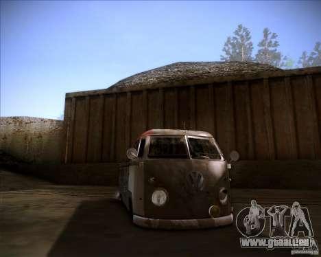 Volkswagen Transporter T1 rat pickup pour GTA San Andreas vue arrière