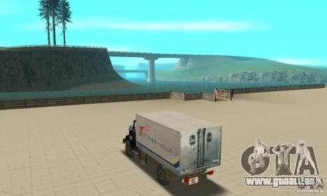 ZIL 433112 avec tuning pour GTA San Andreas sur la vue arrière gauche