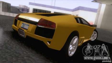 Lamborghini Murcielago LP640 2006 V1.0 pour GTA San Andreas sur la vue arrière gauche