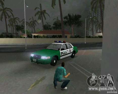 Ford Crown Victoria 2003 Police für GTA Vice City linke Ansicht