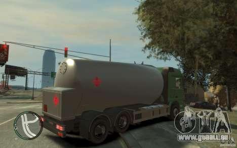Mercedes Benz Actros Gas Tanker pour GTA 4 est une vue de dessous