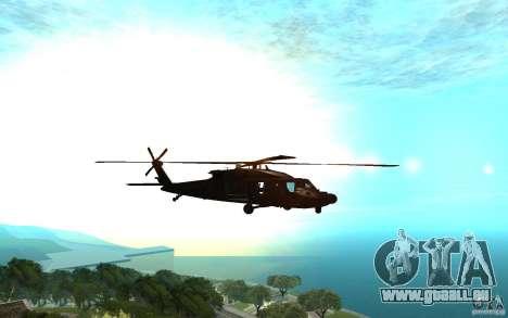 MH-60L Blackhawk für GTA San Andreas zurück linke Ansicht