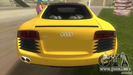Audi R8 V10 TT Black Revel für GTA Vice City zurück linke Ansicht