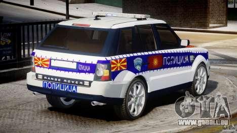 Range Rover Macedonian Police [ELS] für GTA 4 obere Ansicht