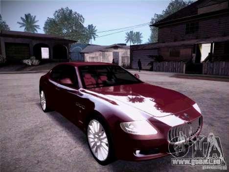 Maserati Quattroporte 2010 pour GTA San Andreas vue de dessus