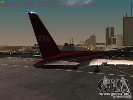 Boeing 767-3G5ER LTU Airways pour GTA San Andreas vue de droite