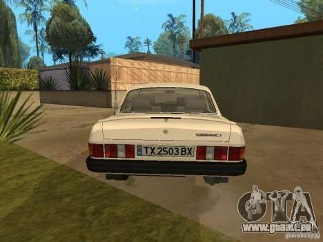 Volga GAZ 31029 pour GTA San Andreas sur la vue arrière gauche