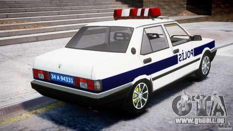 Tofas Sahin Turkish Police v1.0 pour GTA 4 est une vue de l'intérieur