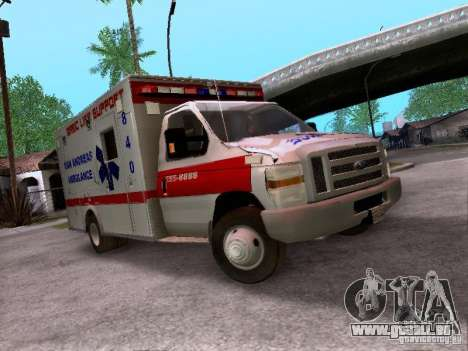 Ford E-350 Ambulance v2.0 pour GTA San Andreas