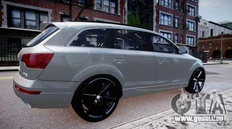 Audi Q7 LED Edit 2009 pour GTA 4 est une gauche