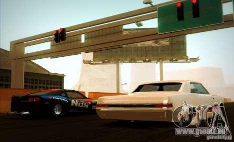 Pontiac GTO Drag Shark für GTA San Andreas Rückansicht