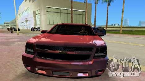 Chevrolet Tahoe 2011 pour GTA Vice City sur la vue arrière gauche