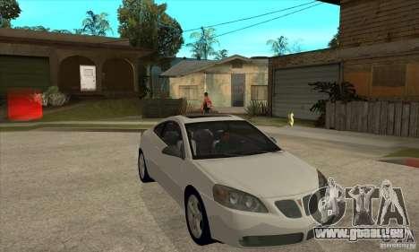 Pontiac G6 Stock Version pour GTA San Andreas vue arrière