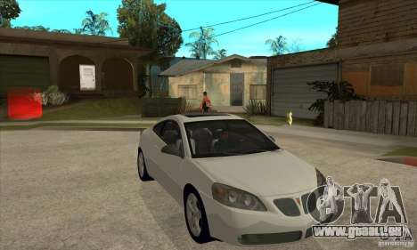 Pontiac G6 Stock Version für GTA San Andreas Rückansicht