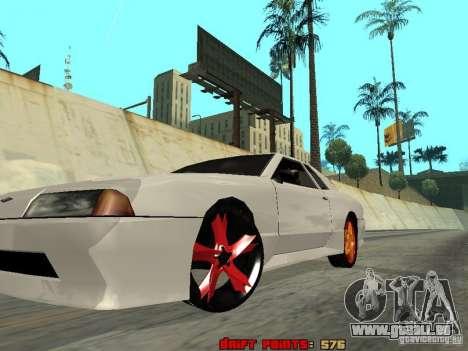 Elegy 29-13 pour GTA San Andreas vue intérieure