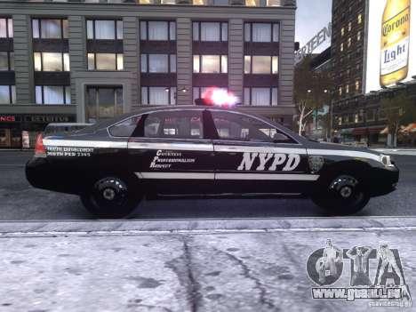 Chevrolet Impala 2006 NYPD Traffic pour GTA 4 Vue arrière de la gauche