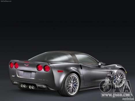 Chargement des écrans Chevrolet Corvette pour GTA San Andreas troisième écran