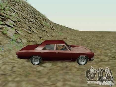 Chevrolet Chevelle pour GTA San Andreas laissé vue