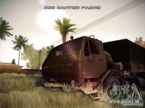 KrAZ-6316 für GTA San Andreas Rückansicht