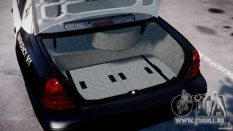 Ford Crown Victoria SFPD K9 Unit [ELS] pour GTA 4 est un côté