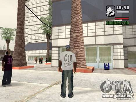 FUck T-shirt pour GTA San Andreas deuxième écran