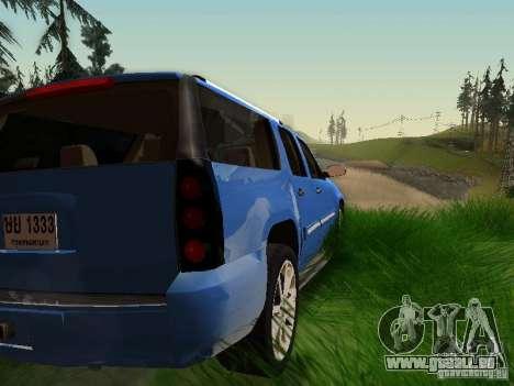 GMC Yukon Denali XL pour GTA San Andreas vue de dessous