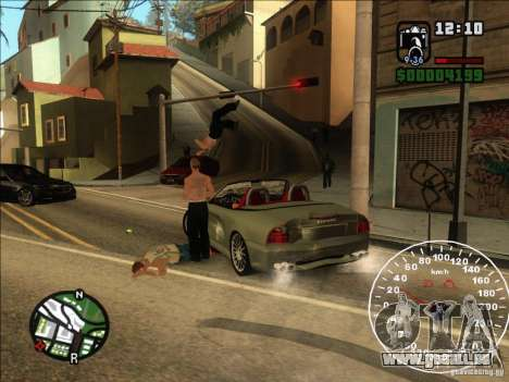 Spyder Cambriocorsa für GTA San Andreas Rückansicht
