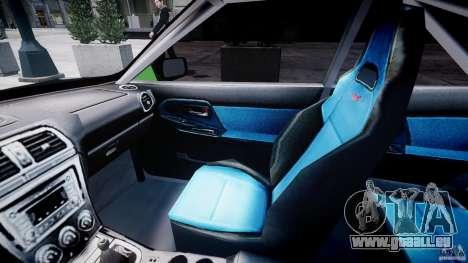 Subaru Impreza STI Wide Body pour GTA 4 Vue arrière
