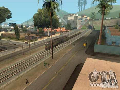 Diesel Lokomotive 2te10l für GTA San Andreas Rückansicht