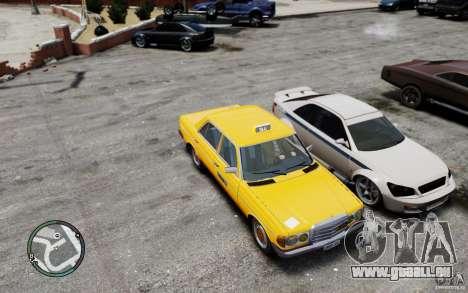 Mercedes-Benz 230 E Taxi pour GTA 4 est une vue de l'intérieur