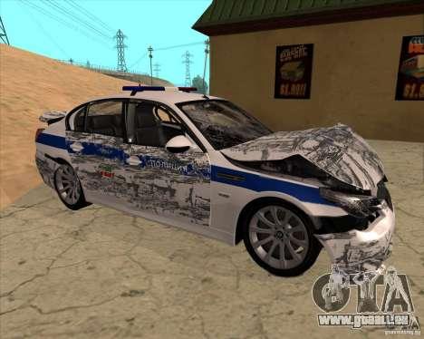 BMW M5 E60 DPS pour GTA San Andreas vue de dessus