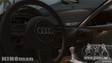 Audi A7 Sportback 2010 für GTA San Andreas Innenansicht