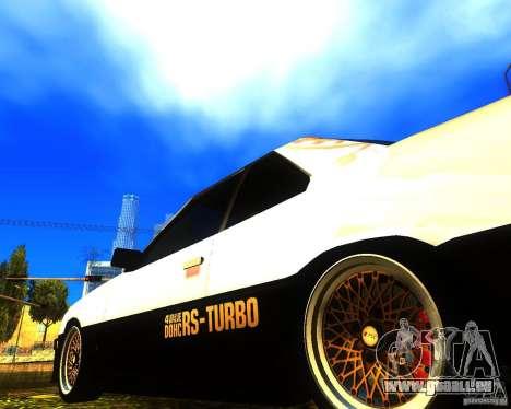 Nissan Skyline RS TURBO (R30) pour GTA San Andreas vue de droite