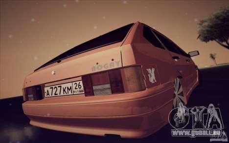 ВАЗ 2114 Orange juteuse pour GTA San Andreas vue de droite