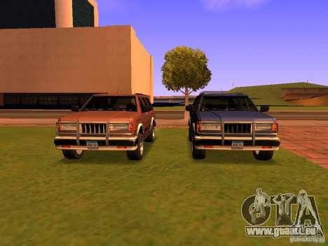 Mountainstalker S pour GTA San Andreas vue de dessous