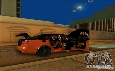 Audi RS6 Black Edition pour GTA San Andreas vue de droite