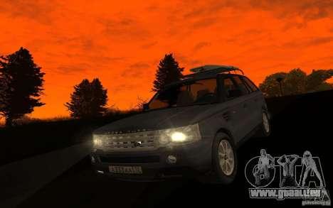 Land Rover Range Rover für GTA San Andreas Innenansicht