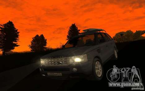 Land Rover Range Rover pour GTA San Andreas vue intérieure