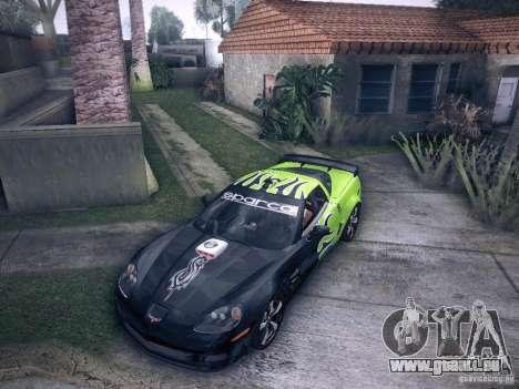 Chevrolet Corvette C6 Z06 Tuning pour GTA San Andreas vue de côté