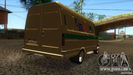 Services de transport Gazelle 2705 pour GTA San Andreas vue de droite
