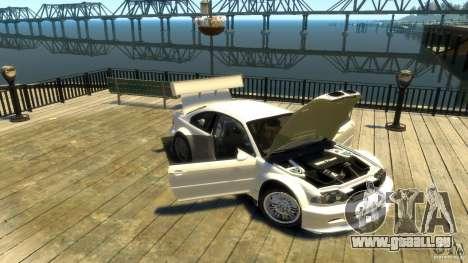 BMW E46 M3 GTR Sport pour GTA 4 est une vue de l'intérieur