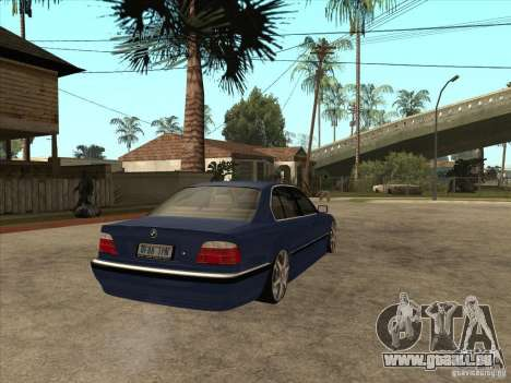BMW 750i pour GTA San Andreas vue arrière