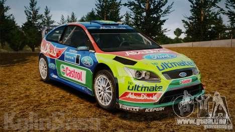 Ford Focus RS WRC für GTA 4 Unteransicht