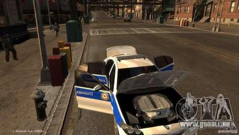 BMW 550i Azeri Police YPX pour GTA 4 vue de dessus