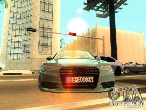 Audi A6 Stanced pour GTA San Andreas sur la vue arrière gauche